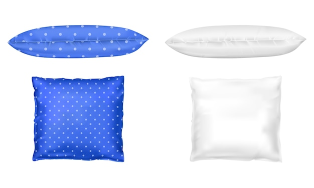 3d realistic pillows. template, mock up