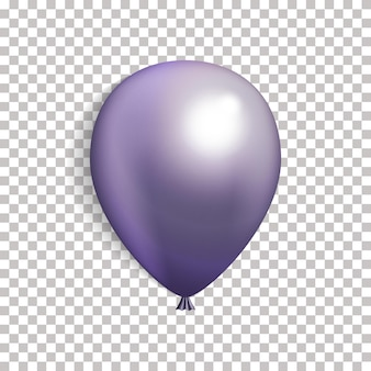 3dリアルな紫の風船