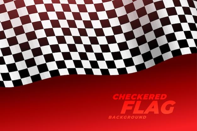 Fondo a scacchi della bandiera di corsa realistica 3d