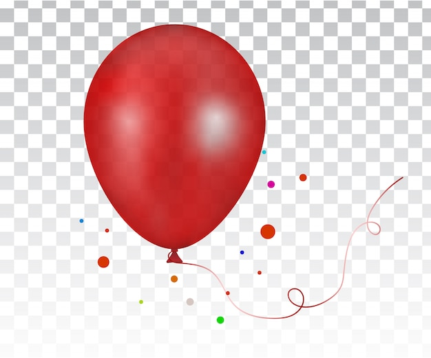 3d realistic red colorful balloon
