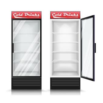 3d realistic refrigerator