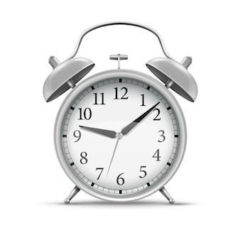 3d реалистичный серебряный домашний будильник.