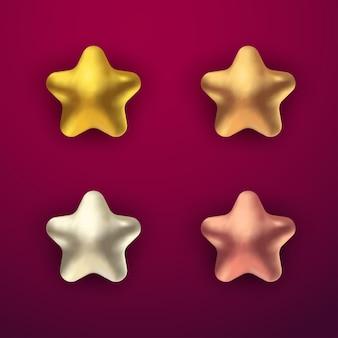 3dリアルな星コレクションセット