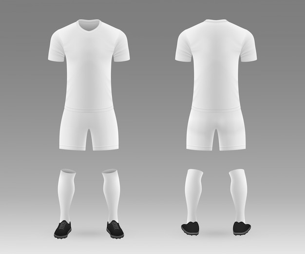 3d realistic template blank soccer kit