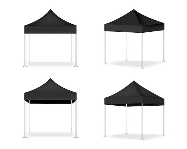3d現実的なテントの表示popブース