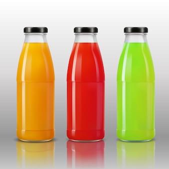 3 dのリアルな透明ジュースボトル