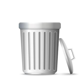 3d realistic trashcan