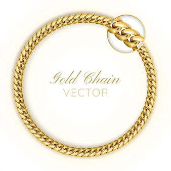 3d realistic vector gold chain