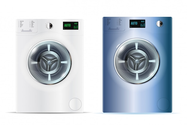 3d realistic vector washers.