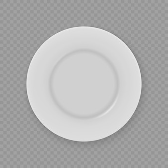 3d реалистичная белая тарелка для посуды