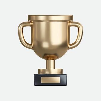 3d 현실적인 우승자 컵