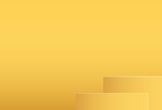 3dリアルな黄色の表彰台