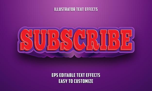 3d 빨간색과 보라색 편집 가능한 텍스트 효과 스타일