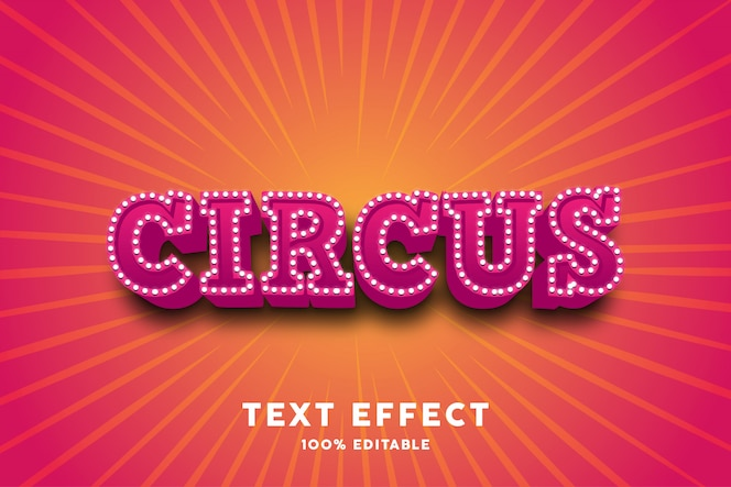 3d red circus text effect