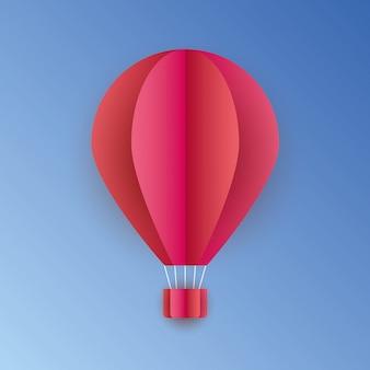 3d red hot balloons. vector