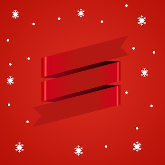 3d red ribbon