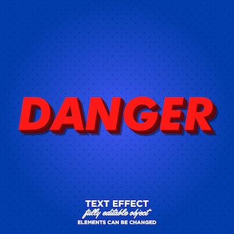 3d red text style for poster and title