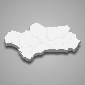 스페인의 3d 지역