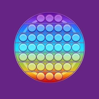3d визуализация pop it модная детская игрушка-непоседа, изолированная на фиолетовом фоне