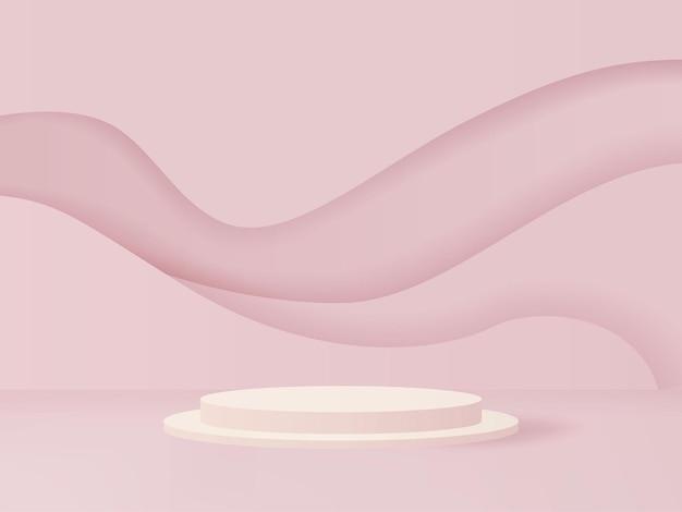 3d-рендеринг подиума для витрины вашей продукции макет презентации товаров красоты и моды vecto