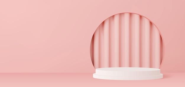 3d визуализация подиумная витрина 3d модель