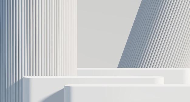 3d визуализация подиум-витрина blank 3d