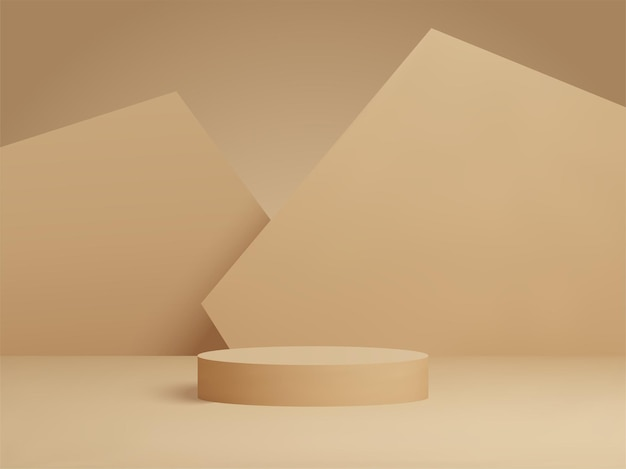 3d rendered podium for your product showcase