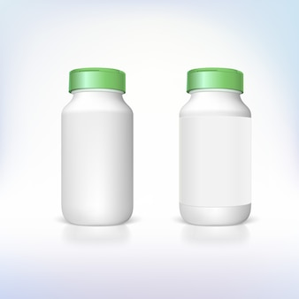 3d rendering of bottles for dietary supplements and medicines