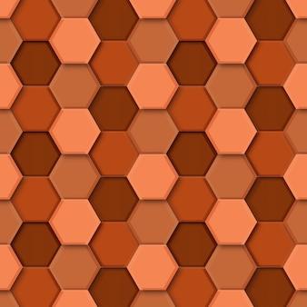 3d визуализация шестиугольника бесшовные узор фона.