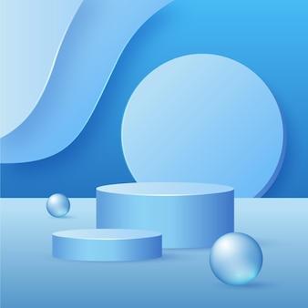 3d-рендеринг красивого дизайна подиума