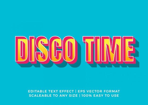 Текстовый эффект 3d retro fun happy vibes