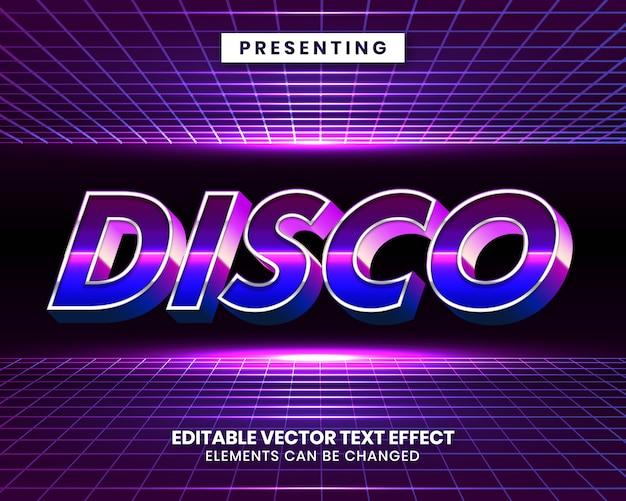 3d retrowave futuristic editable text effect