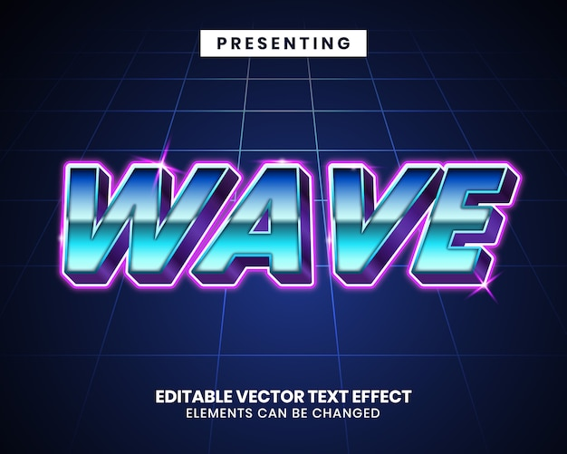 3d retrowave futuristic  text effect
