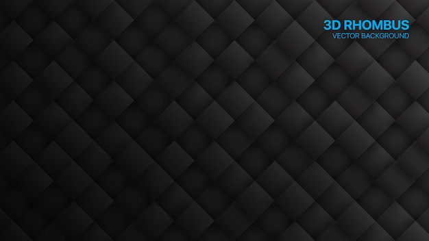 3d rhombus minimalist black technology abstract background
