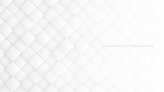 3d rhombus white abstract background