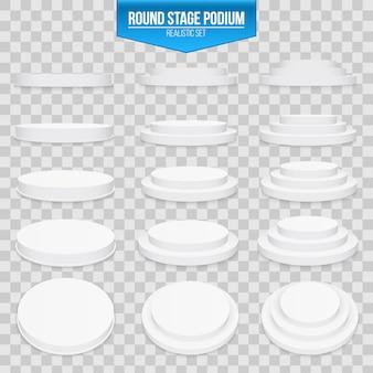 3d round stage podium