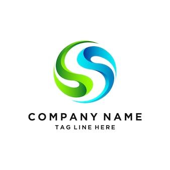 3d буква s дизайн логотипа