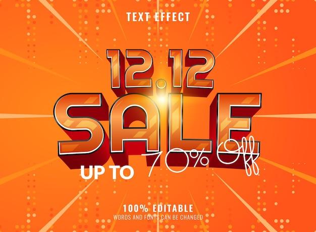 3d sale banner editable text effect