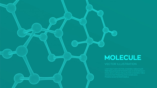 3d scientific molecule background.
