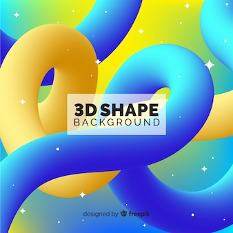 3d shape background