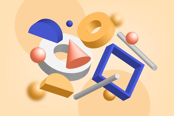 3d shapes background