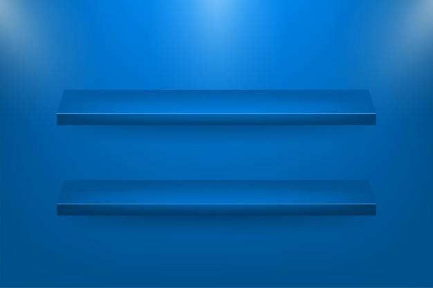 웹 배경 디자인을위한 3d 상점 선반
