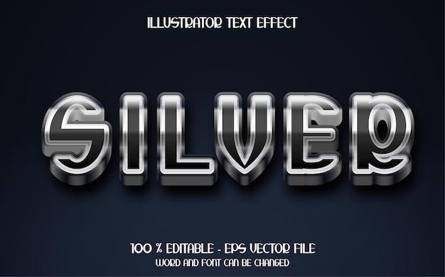 3d серебряный текстовый эффект