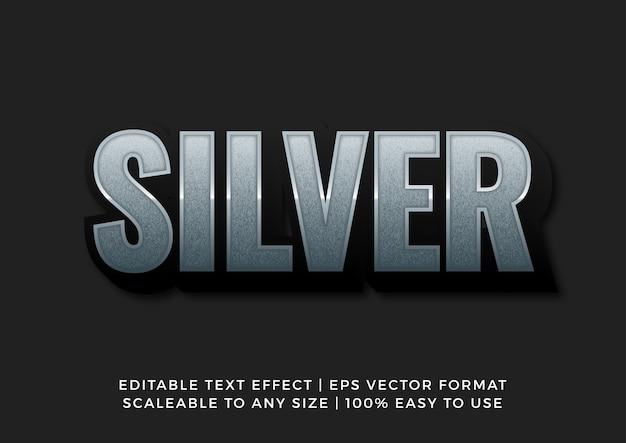 Текстовый эффект 3d silver texture