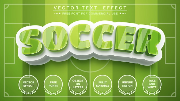 3d soccer text effect