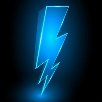 3d sparkling lightning bolt