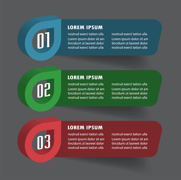 3d speech bubble modern text box template infographics banner