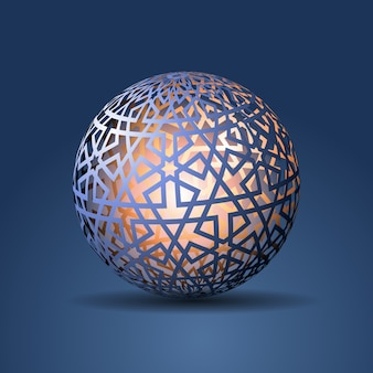 3d Sphere Decorated