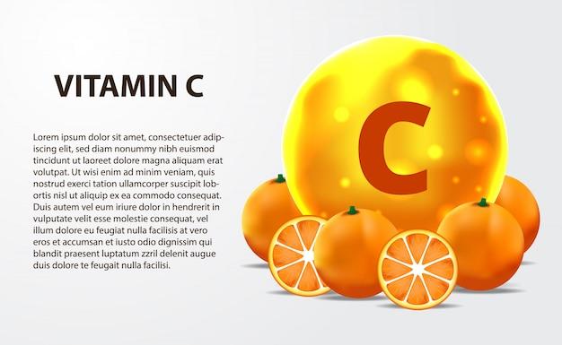 3d 구형 분자 금 황색 비타민 c