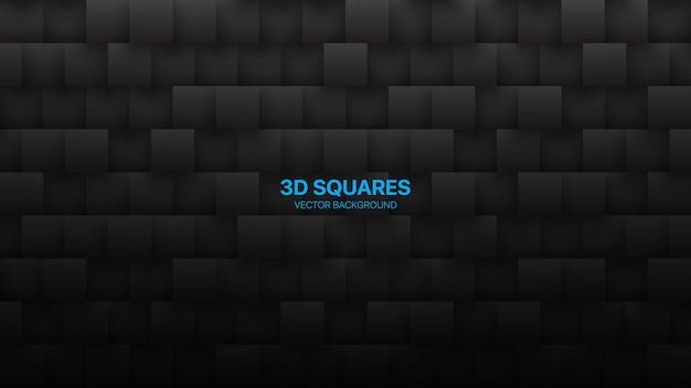 3d squares science conceptual technology minimalist black